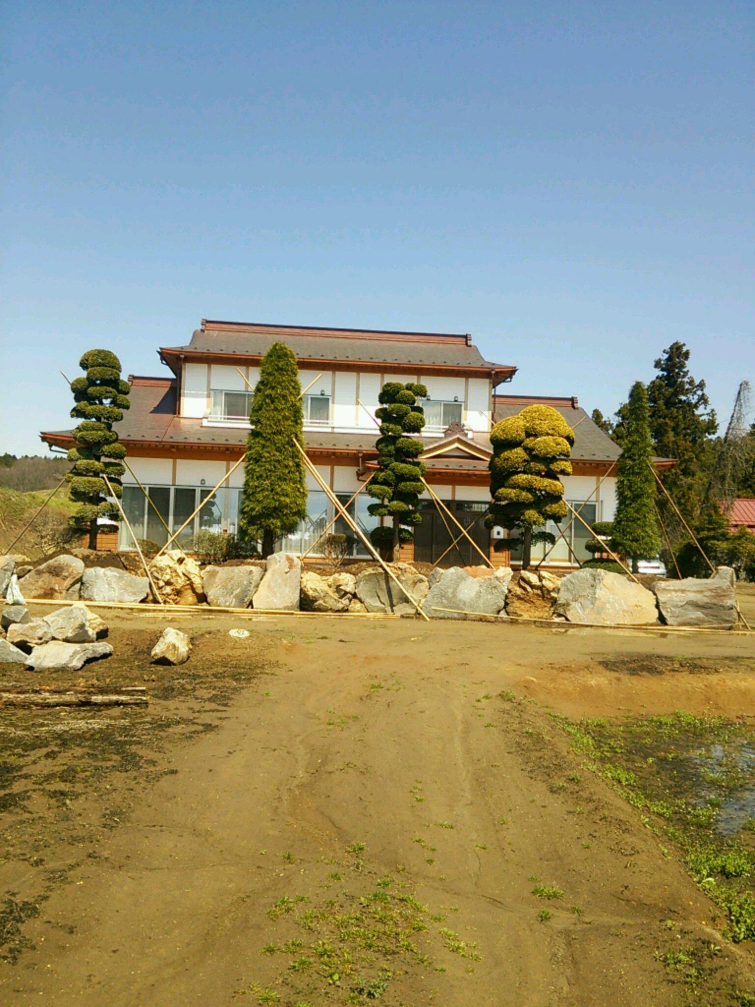 鳴子石の造園工事